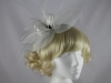 Failsworth Millinery White and Black Fascinator